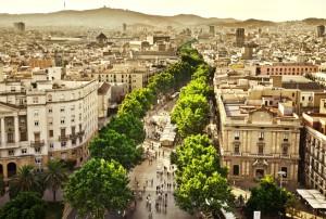 رابع الاماكن السياحية في اسبانيا لا رامبلاس